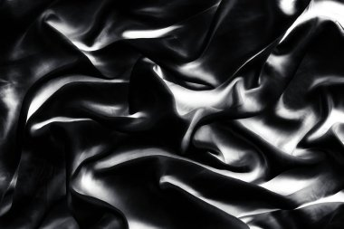 Luxury monochrome soft satin flatlay background texture, holiday