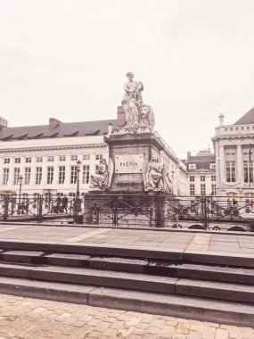 Streets of Brussels, the capital city of Belgium, european architecture and historical buildings