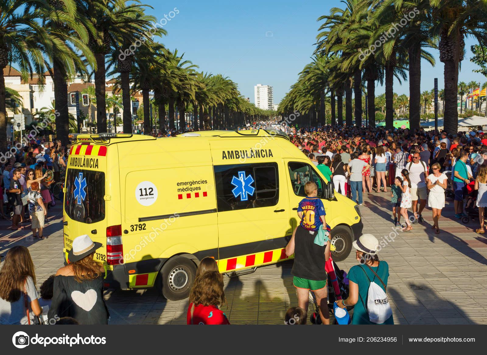 Salou Spain August 2017 Construction Living Pyramid Symbol Unity