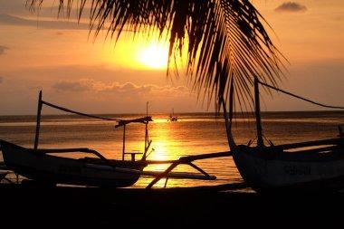Sunset at a balinesean beach