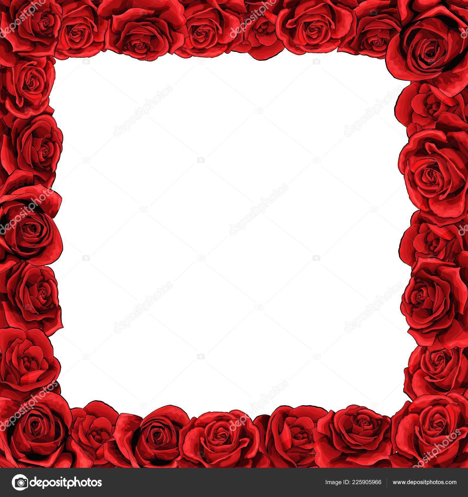 b712c1c8bb7c2 Marco de flor rojo rosa flores para tarjetas de felicitación