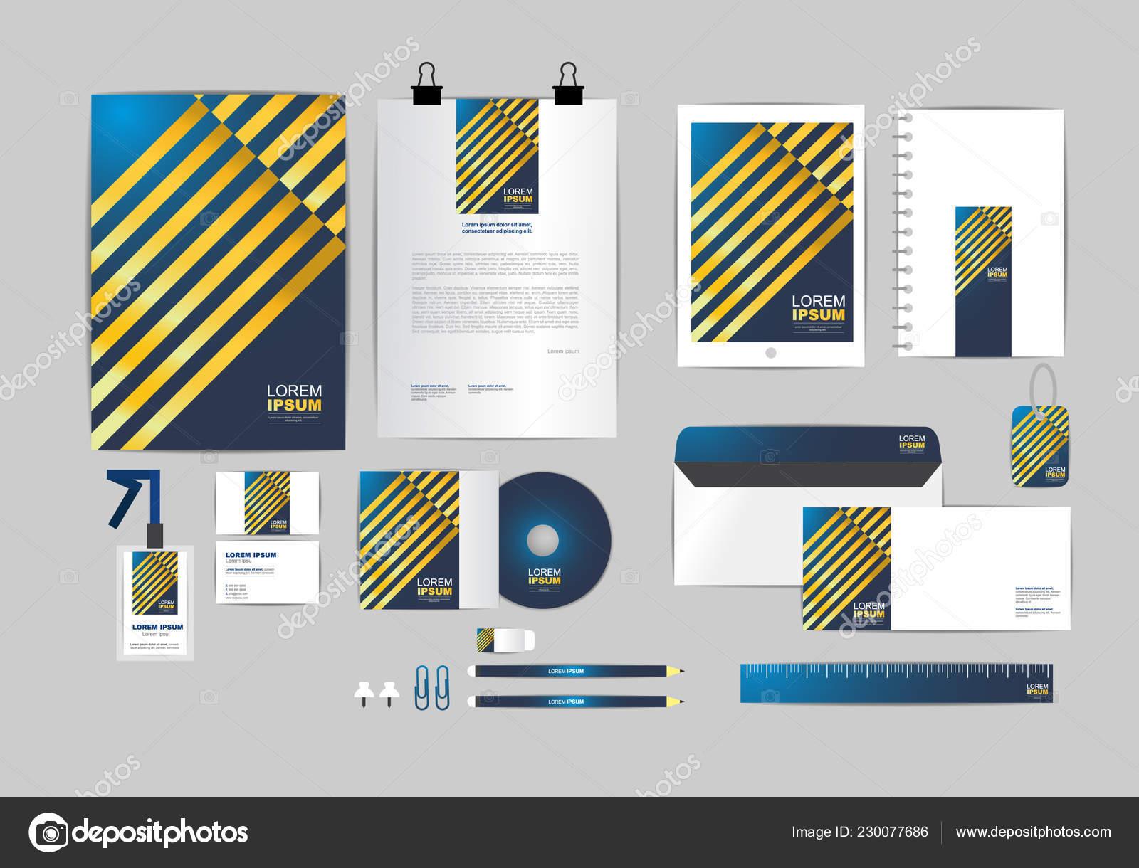 Blau Und Gold Corporate Identity Vorlage Für Ihr Unternehmen