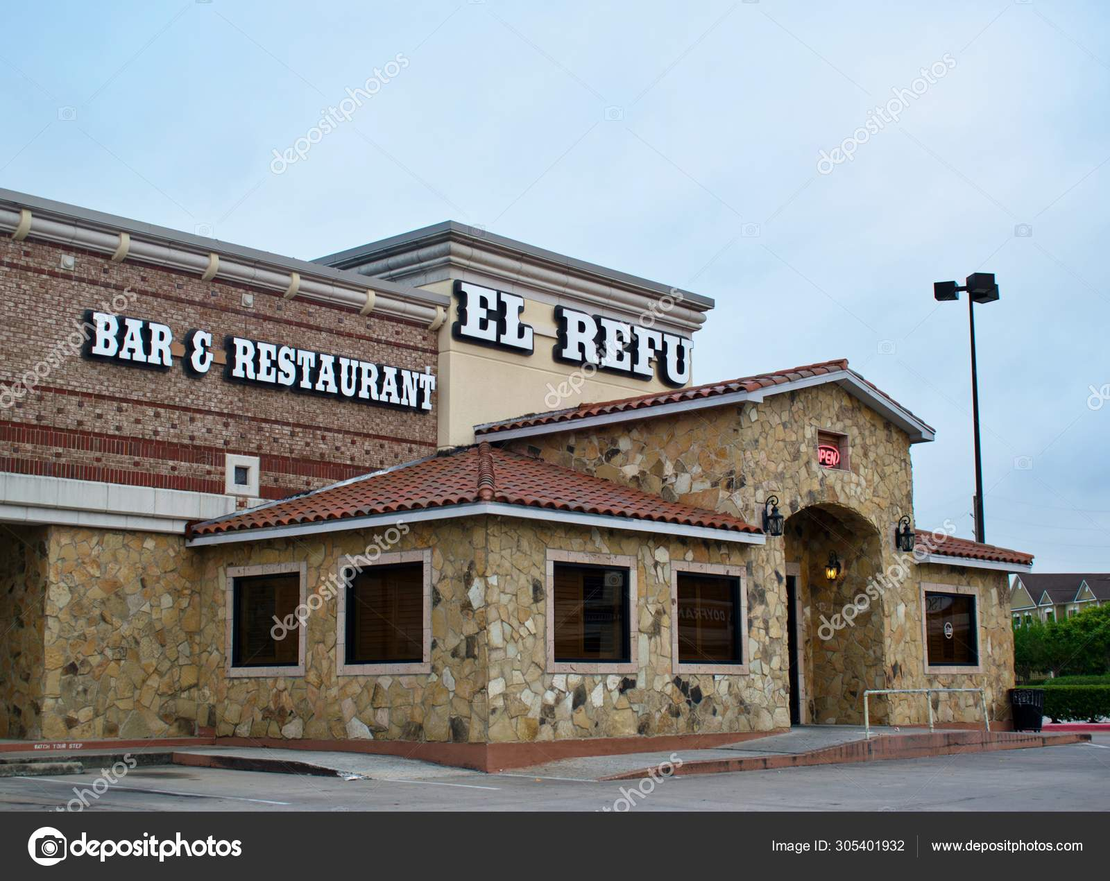 Houston Texas Usa 2019 Refu Mexican Restaurant Seen Front