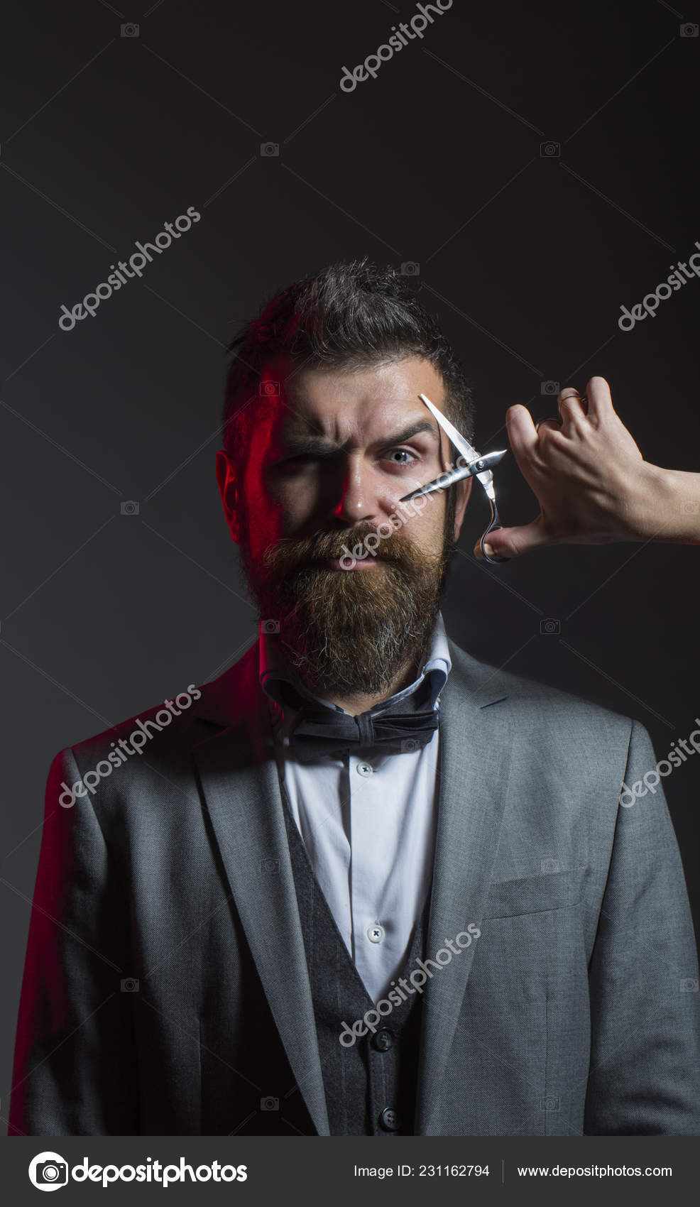 Barber Scissors Mens Haircut Bearded Man Long Beard Brutal Caucasian Hipster With Moustache Haircut Handsome Bearded Barbershop Sexy Men Macho Long Beard Vintage Barbershop Shavin Stock Photo Image By C Bodystock69 Gmail Com
