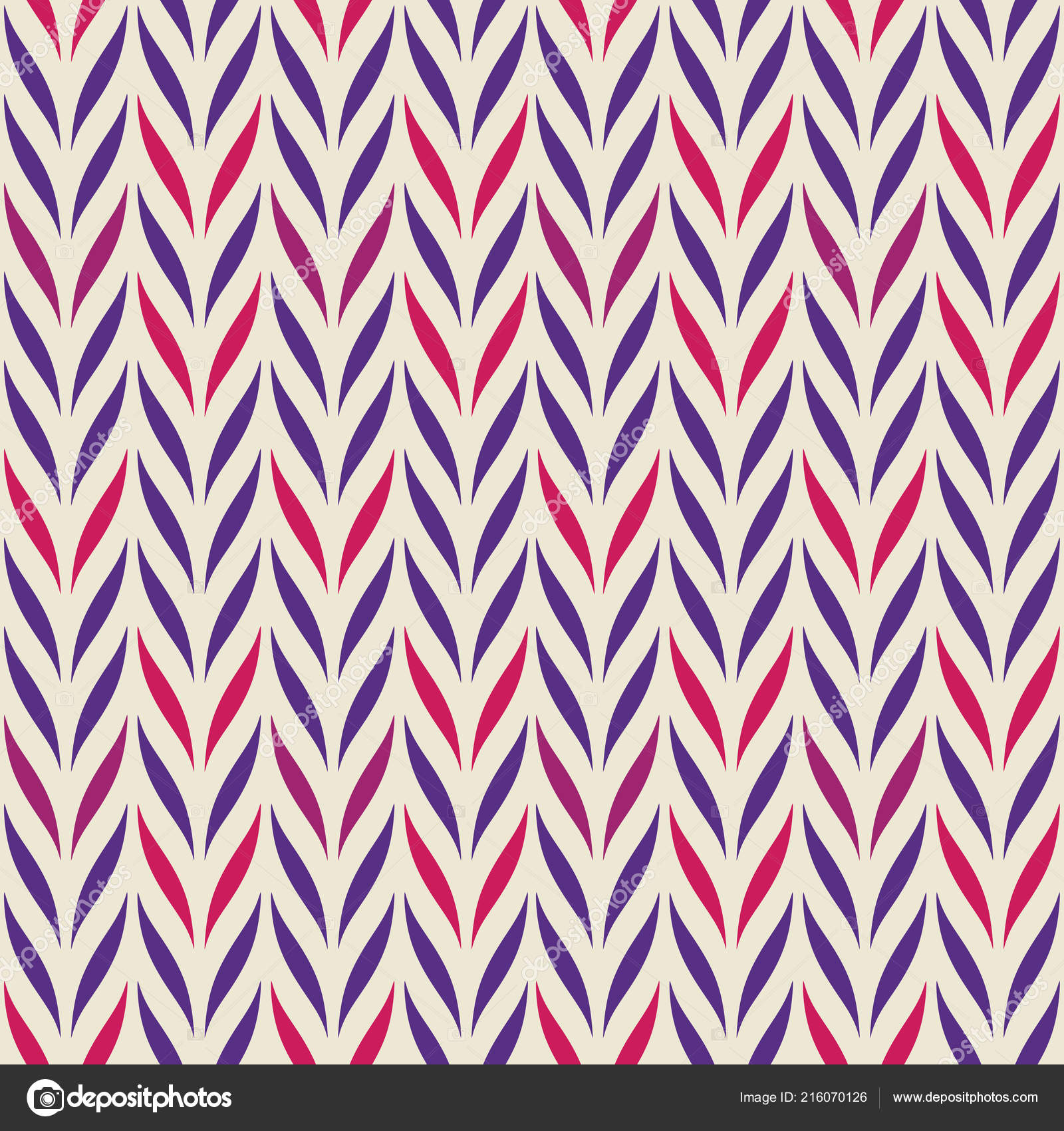 Seamless Vector Chevron Pattern Abstract Floral Elements