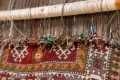 Fotografie Herstellung von Teppichen, türkische Teppiche sind einer der wichtigsten Sektoren des Landes