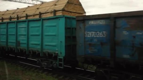 Moskau Russland 1. Juli 2020 großer Güterwaggon auf den Gleisen