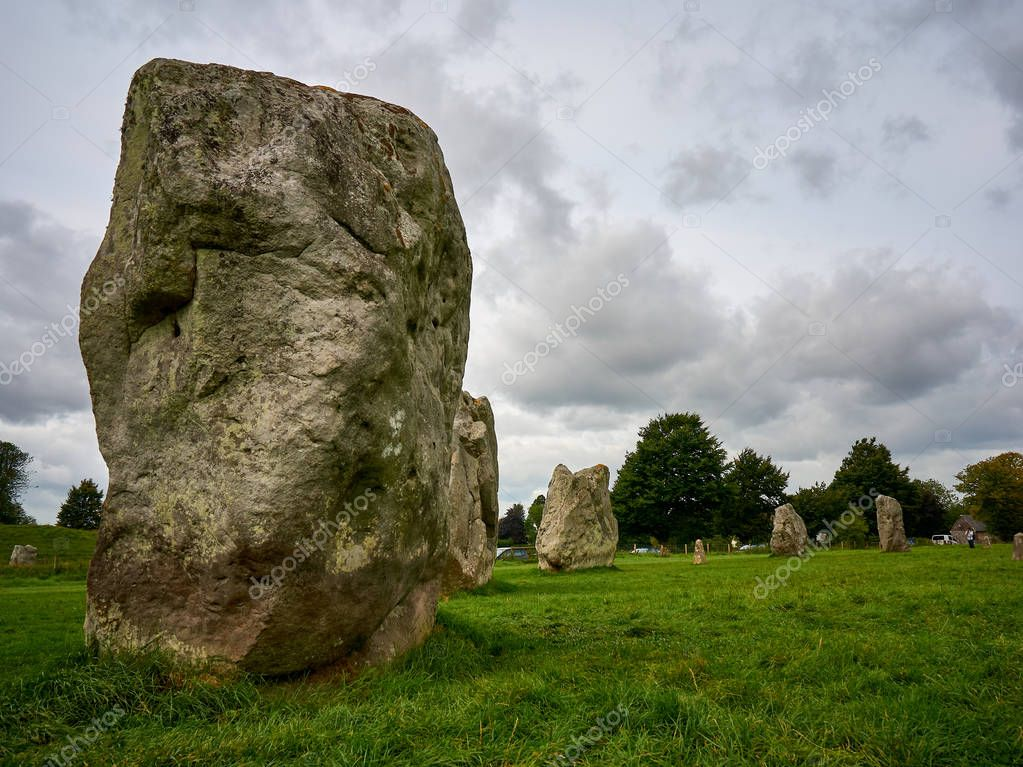 Part of the Prehistorical Stone Circle in Avebury