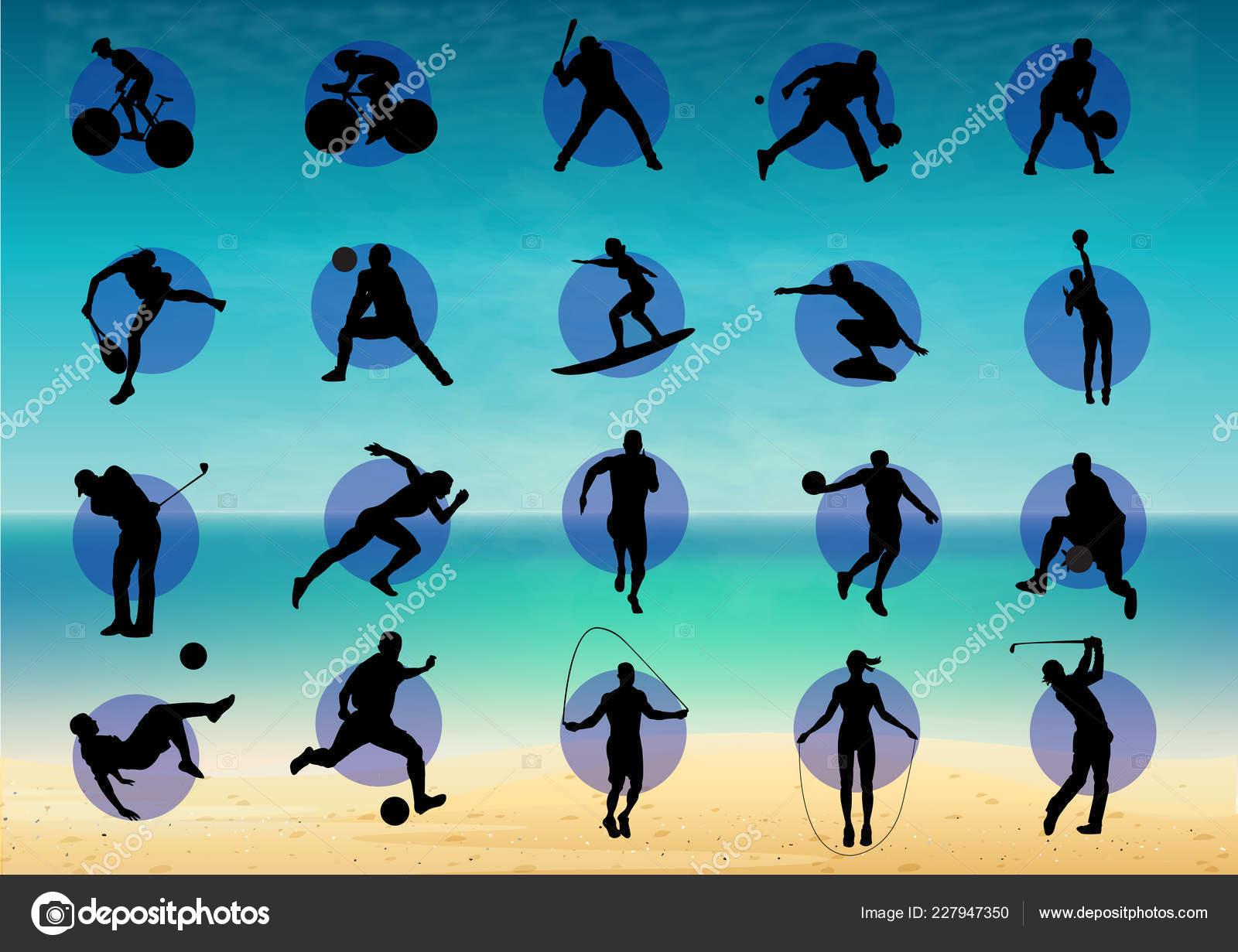 Ilustracion Representa Pictograma Variados Deportes Varios Juegos