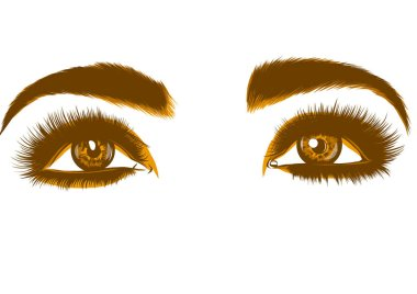drawing of colorful yellow woman s eyes