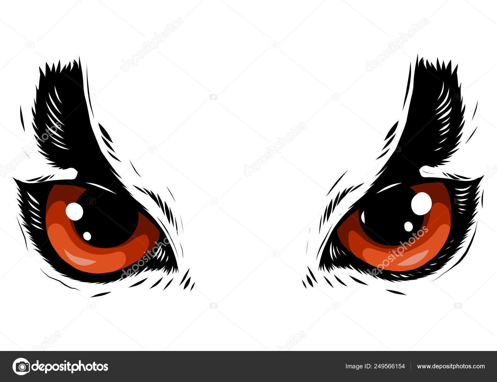 Drawing Of The Eyes Owl On White Background Stock Vector