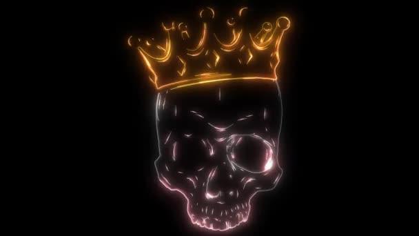 Prinzenschädel in Kronen-Laser-Animation