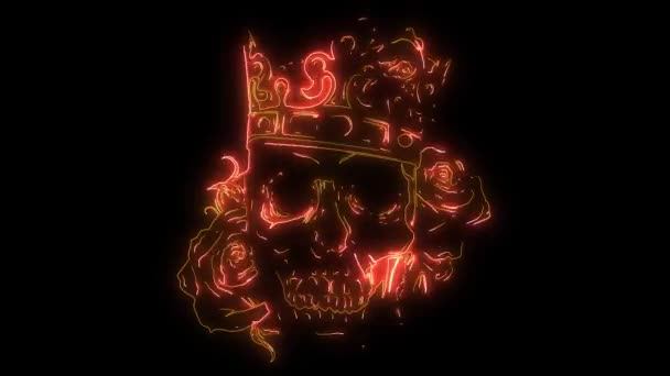 prince skull in crown laser animation