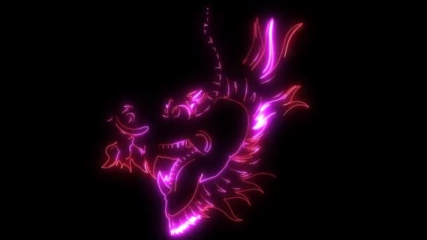 szörny sárkány fej videó animáció