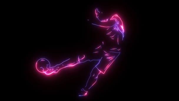 Fußballer mit Grafik-Trail-Video