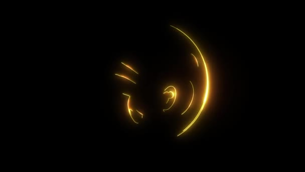 Emoticon face video laser animation