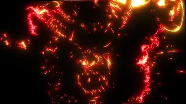 Ördög fej video lézer animáció