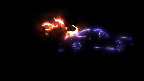 ročník sportovní automobil video Laserová animace