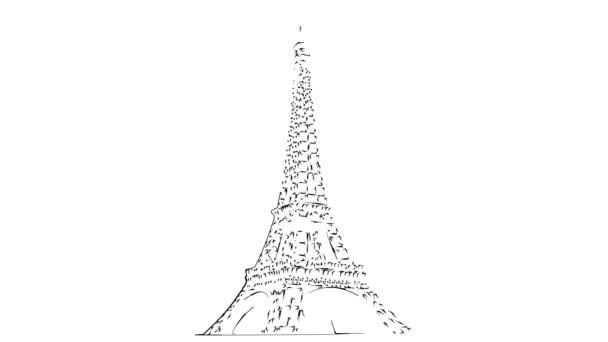 Animace Eiffelovy věže Černá silueta