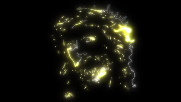 Jézus arca videó animáció