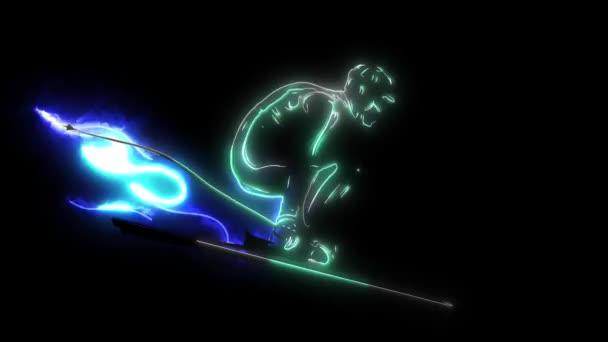 sjezdařka sportovec lyžování sjezdové černá silueta