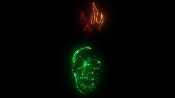 Graphic Skull video Template with Flames
