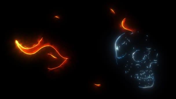 videó koponya esik a tűz láng