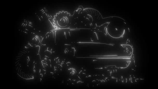 Náhradní rám a díly digitální neonové video