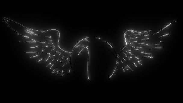 Kosárlabda Wings digitális neon videó