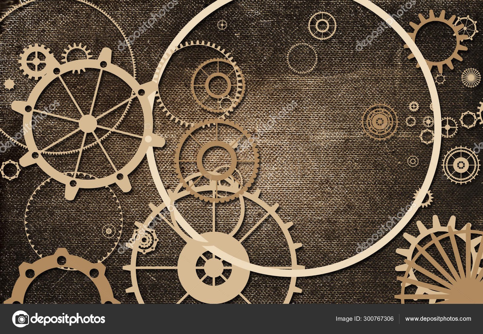 Steampunk Old Background Paper Canvas Frame Cogs Gears Retro Vintage Stock Photo C Magergram