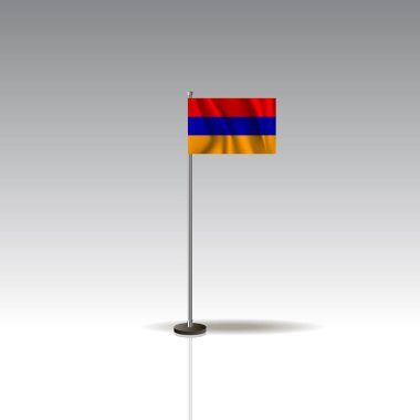 Flag Illustration of the country of ARMENIA. National ARMENIA flag isolated on gray background. EPS10