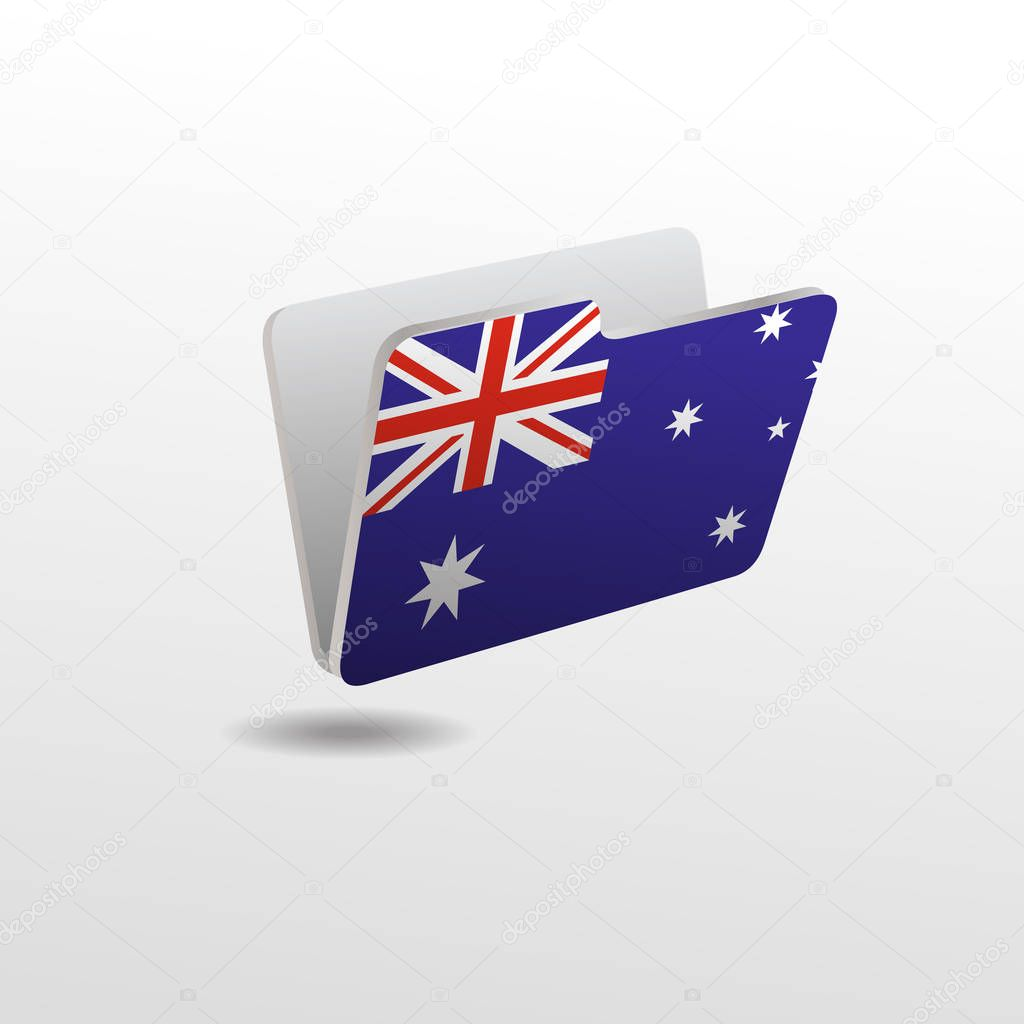 folder with the image of the flag of AUSTRALIA