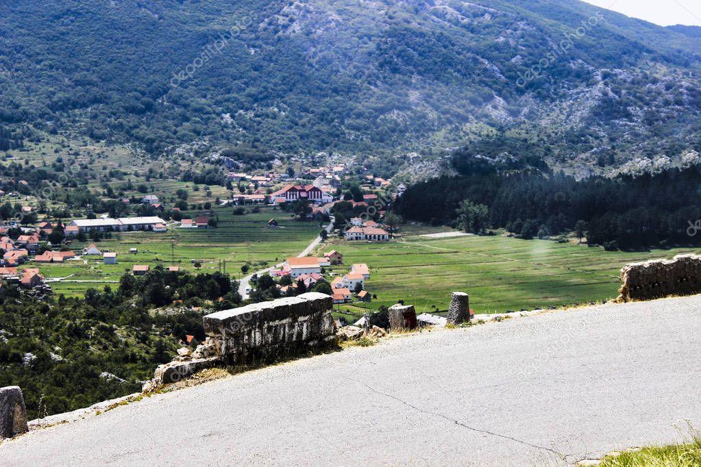 The old village of artisans and livestock breeders in the beautiful mountain green gorge