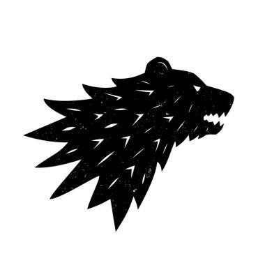Bear logo. Heraldic logo