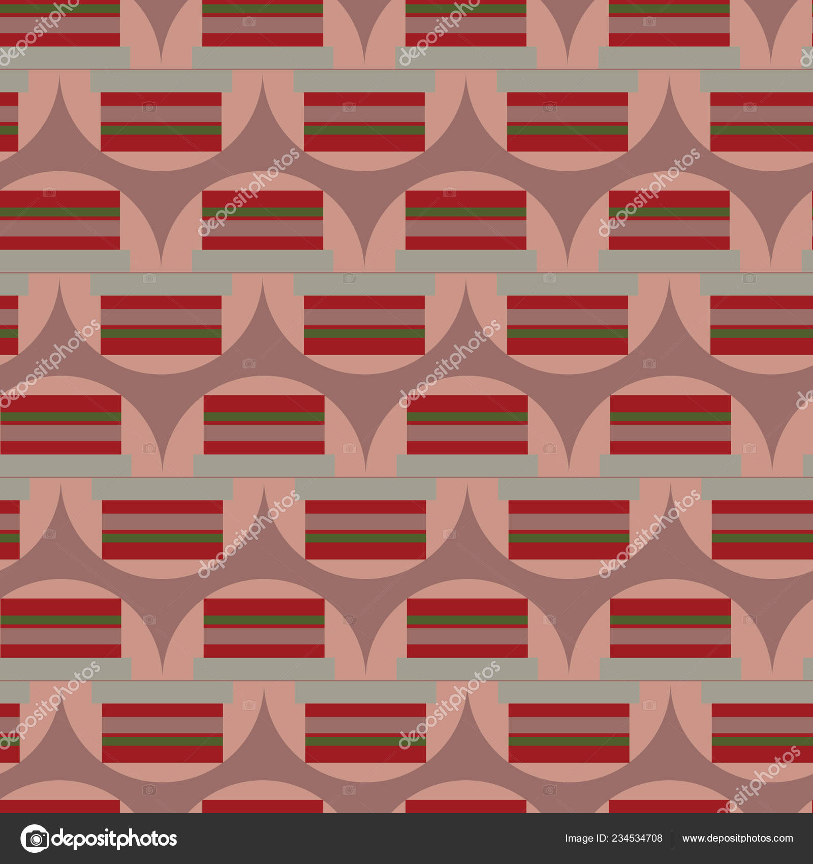 Vintage abstraktní červená šedé a zelené kruhy a obdélníky na prašném  růžové služeb bezešvé pattern. Skvělé pro pozvánky 4f0ea30ac68