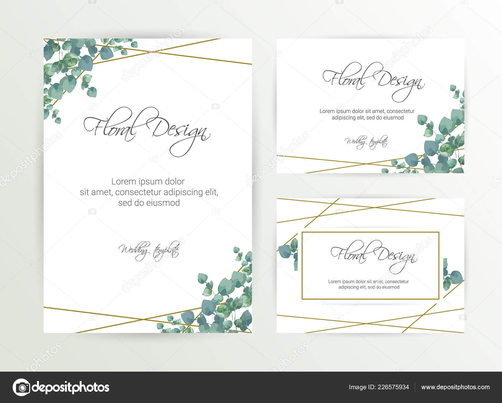 Banner Flower Background Wedding Invitation Modern Card