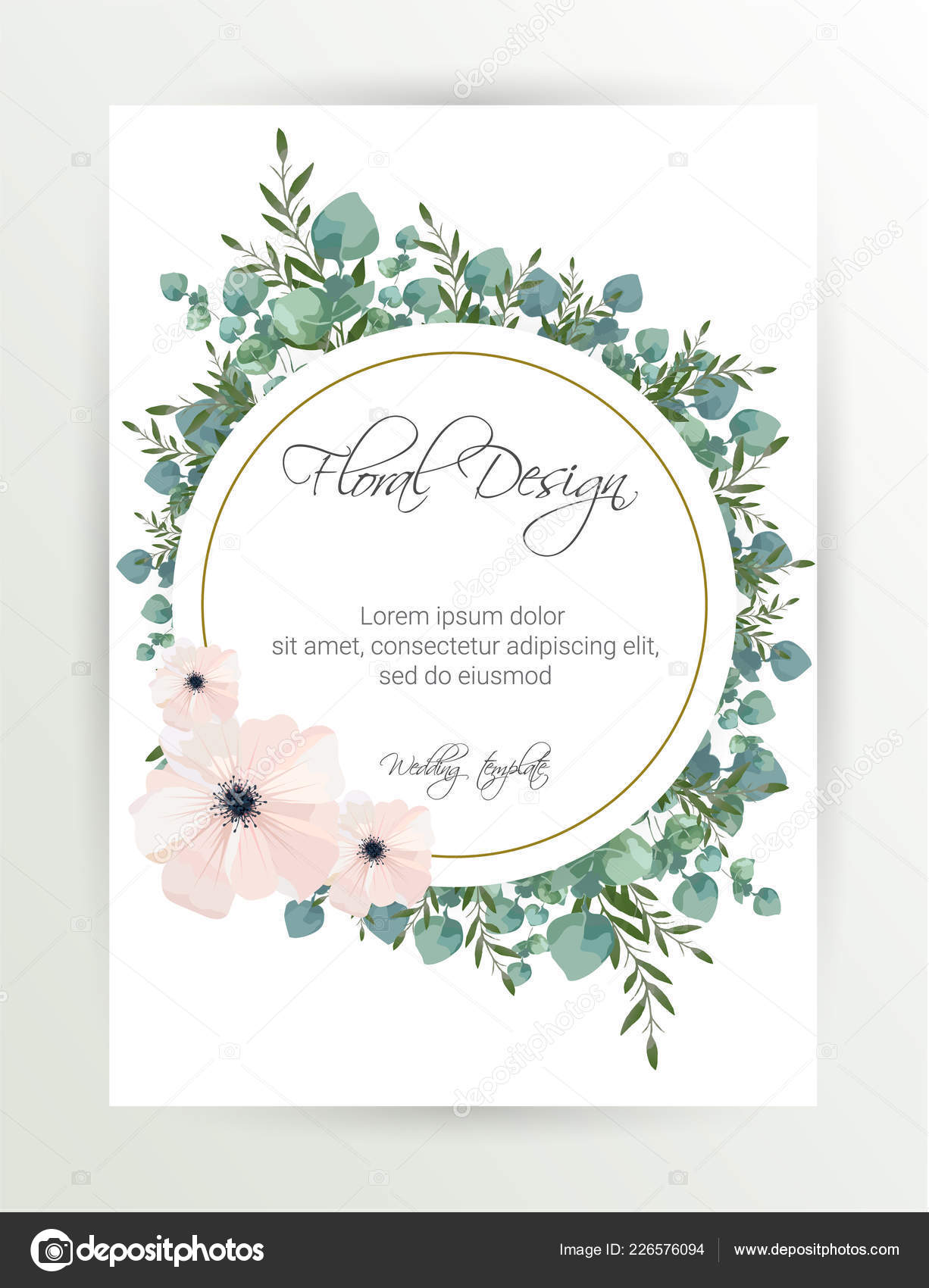 Banner Flower Background Wedding Invitation Modern Card Design