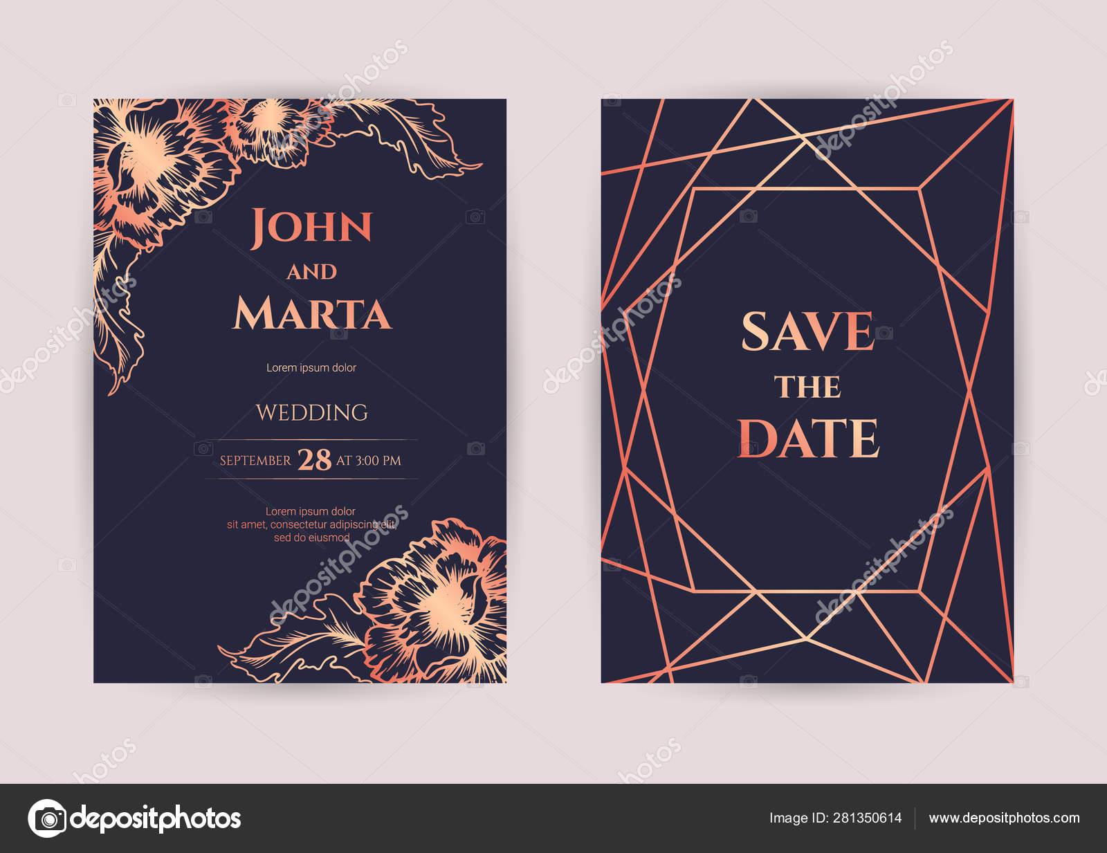 Wedding Invitation Cards Eps 10 Stock Vector Anfisa1812