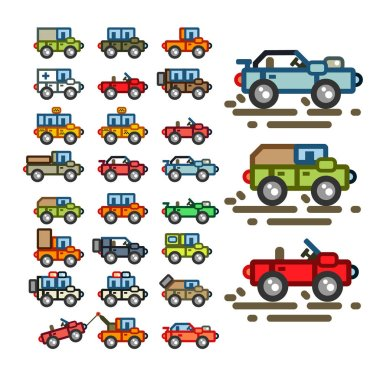 Flat cars for a game application