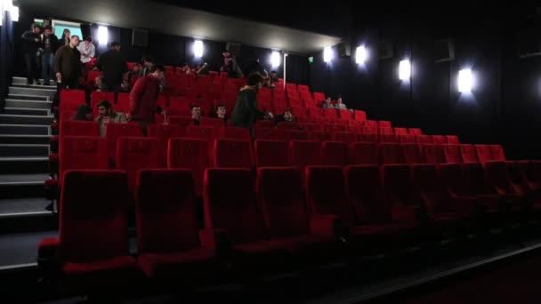 People Filling Cinema Timelapse