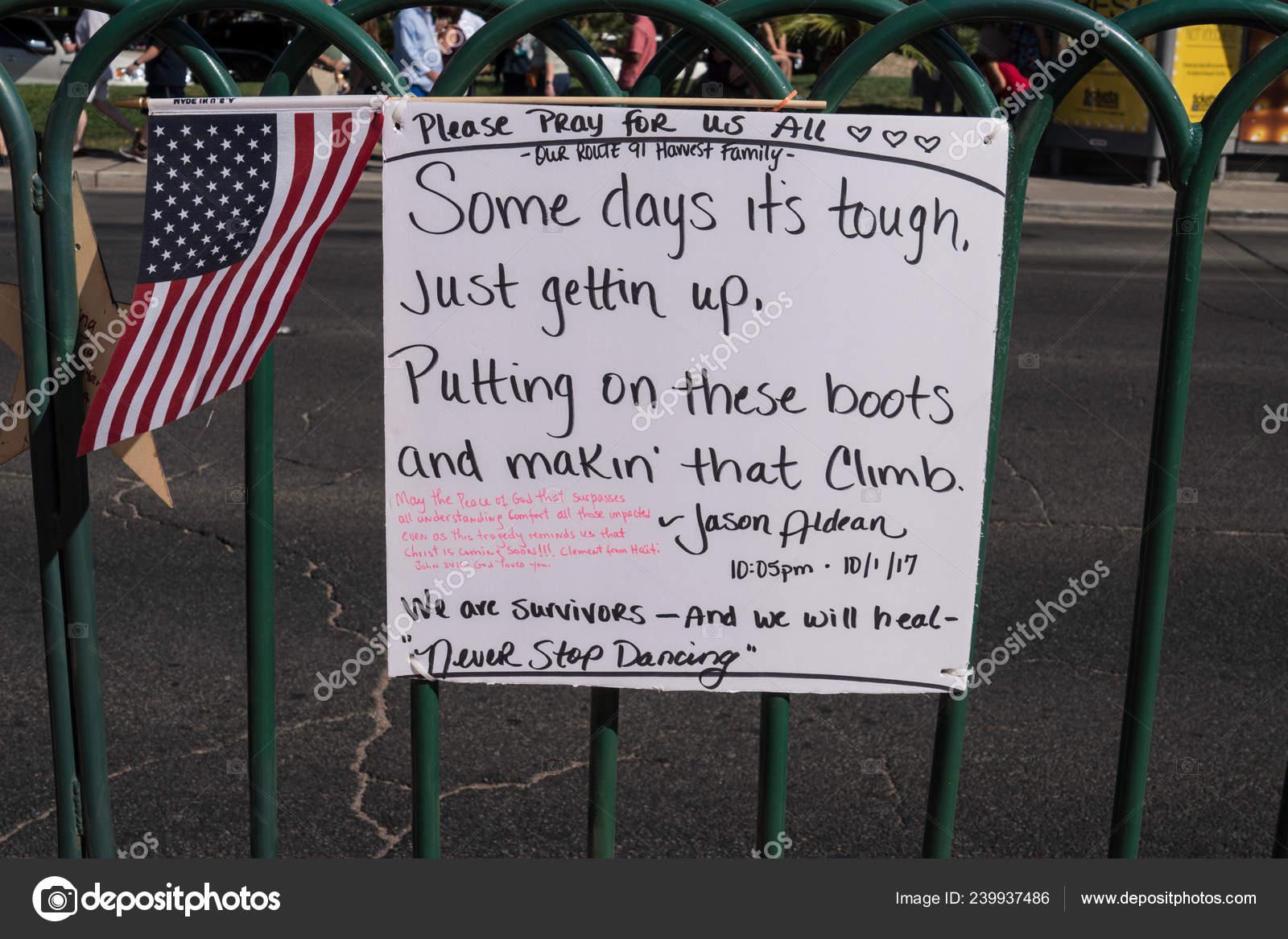 Las Vegas Nevada October 2017 Memorial Message Quote Jason ...