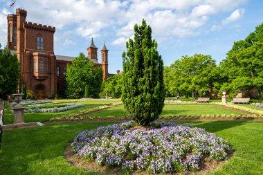 Washington, DC - May 9, 2019:  Enid Haupt Garden and the Smithso
