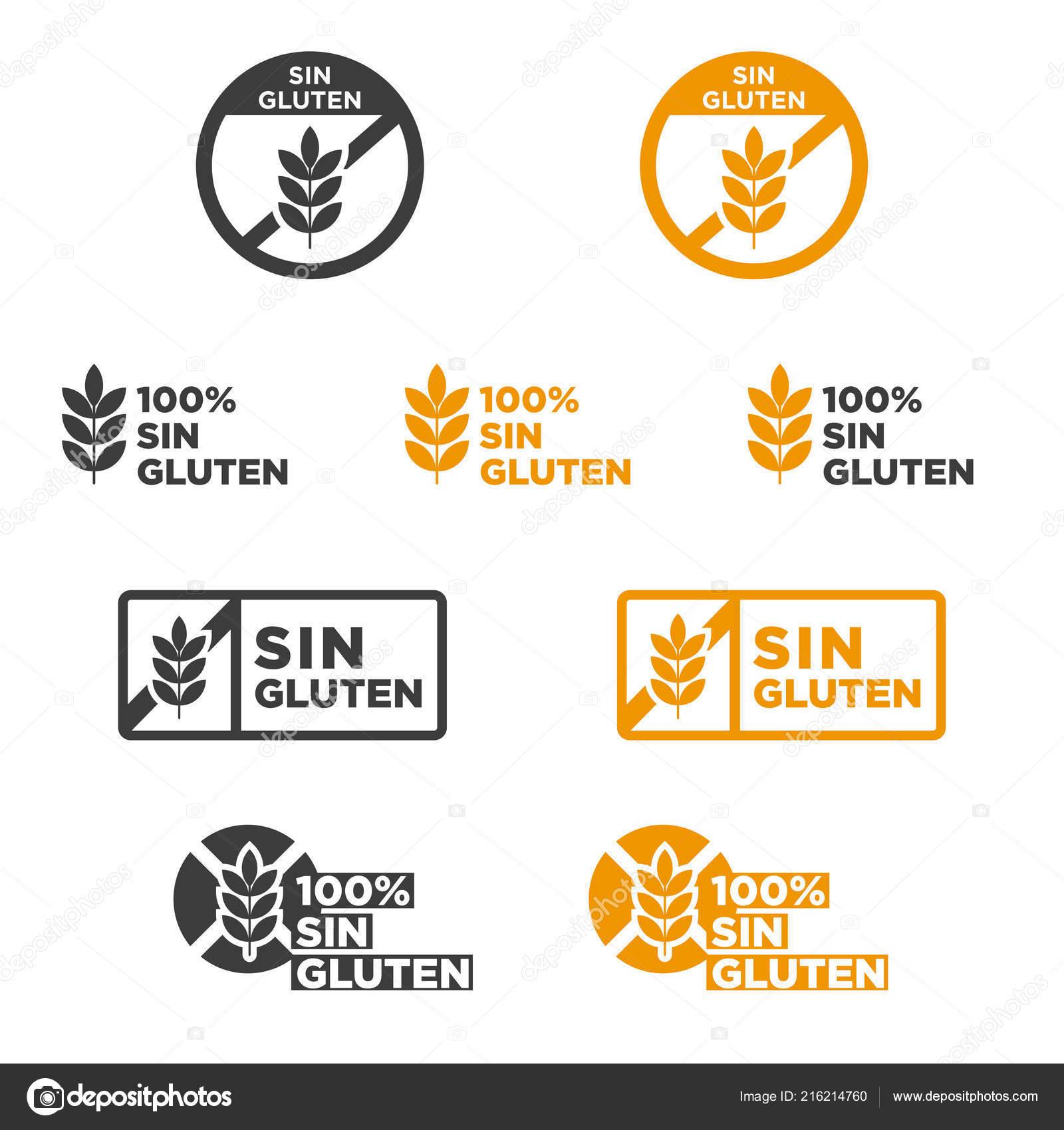 Gluten Free Icon Set Written Spanish Vector Illustration Stock Vector C Joseyyoestudio Gmail Com 216214760