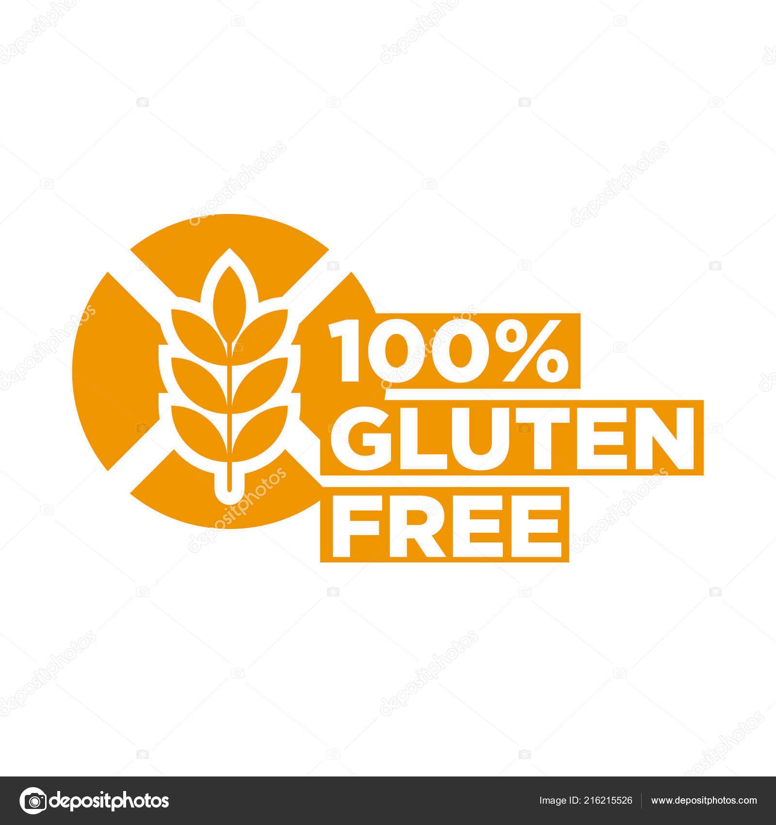 100 Gluten Free Icon Vector Illustration — Stock Vector
