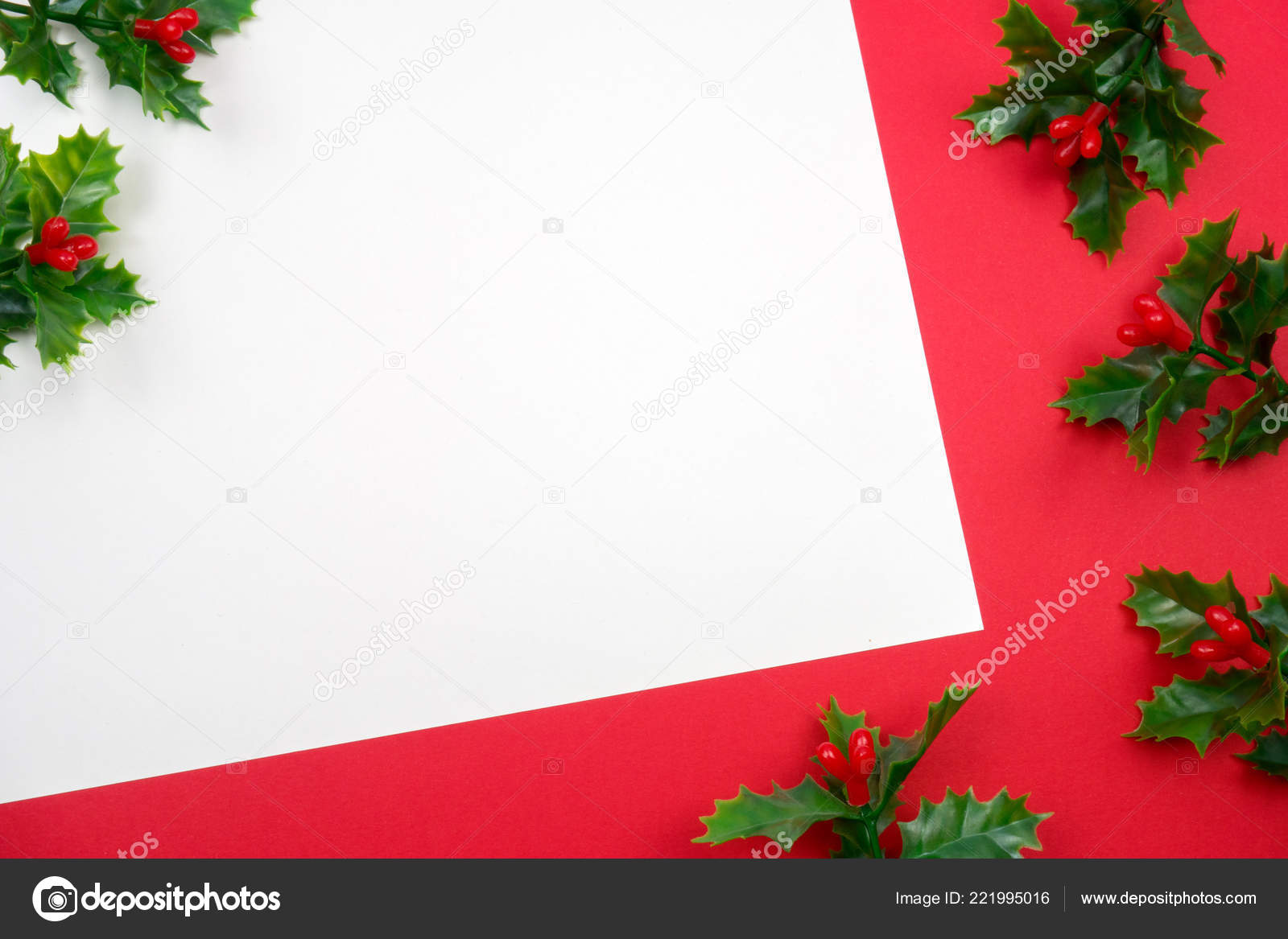 Kreative Weihnachten Layout Leeren Brief Und Weihnachtsdekorationen