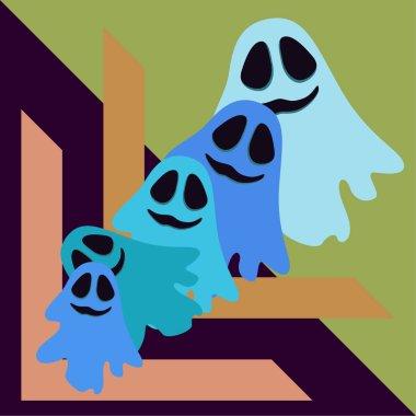 Halloween spirit night illustration vector background
