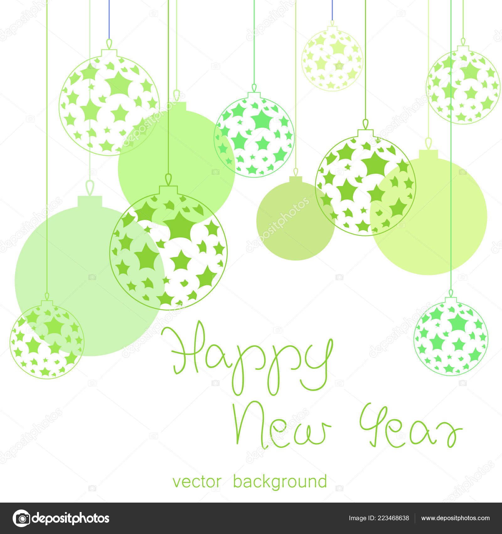 new year vector greeting card holiday background christmas balls christmas stock vector