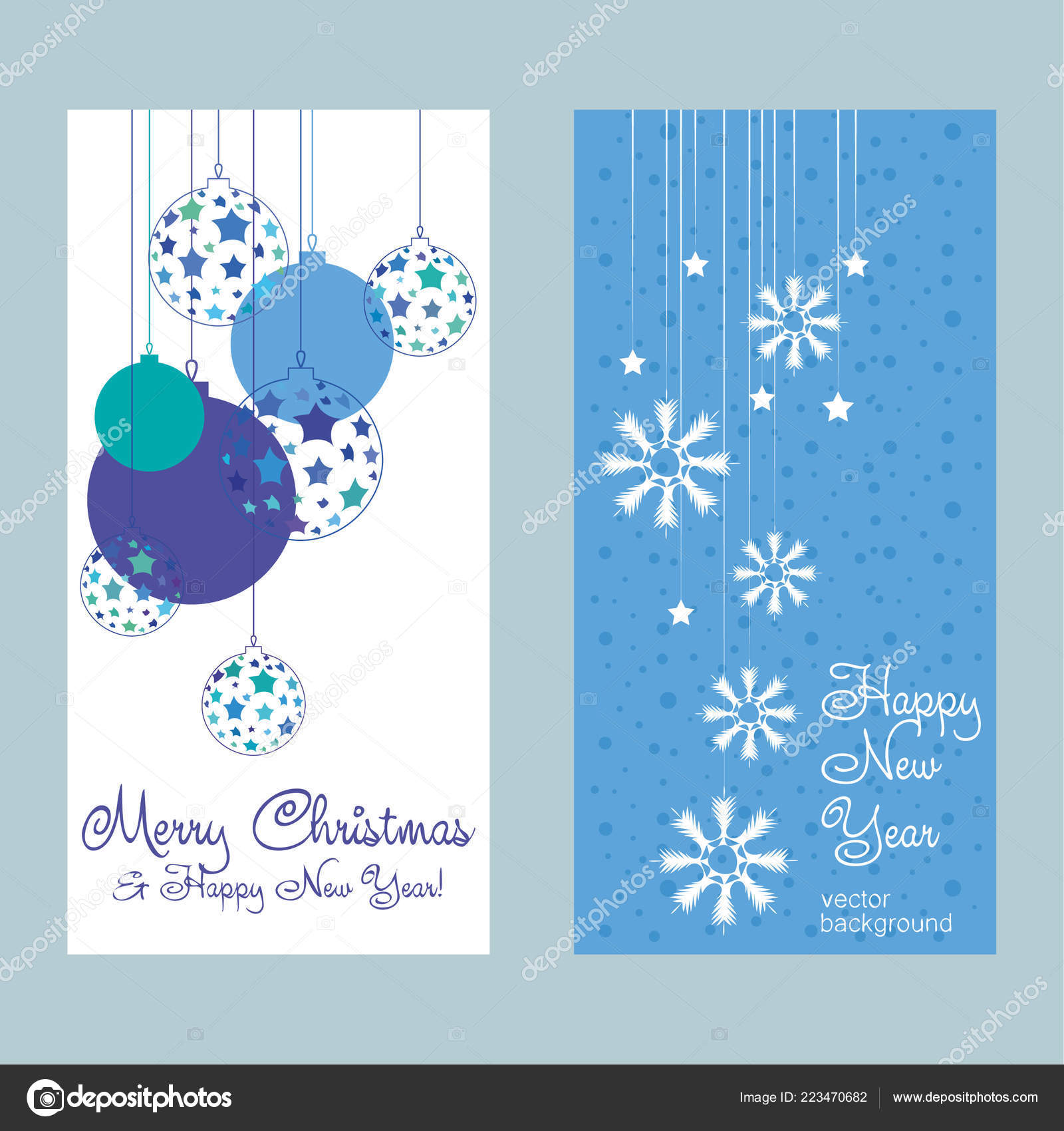 New Year vector greeting card, holiday background