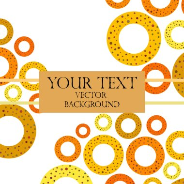 Colorful pretzels with copy space on white background