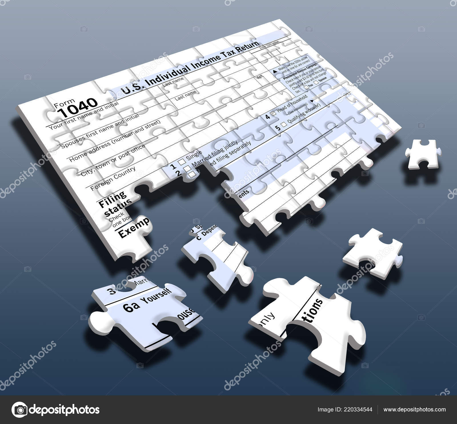 form 1040 jigsaw puzzle  Here Federal Income Tax Form 5 Jigsaw Puzzle People Face ...